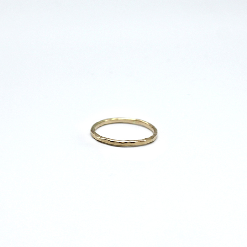 14k Hammer touch Ring.2
